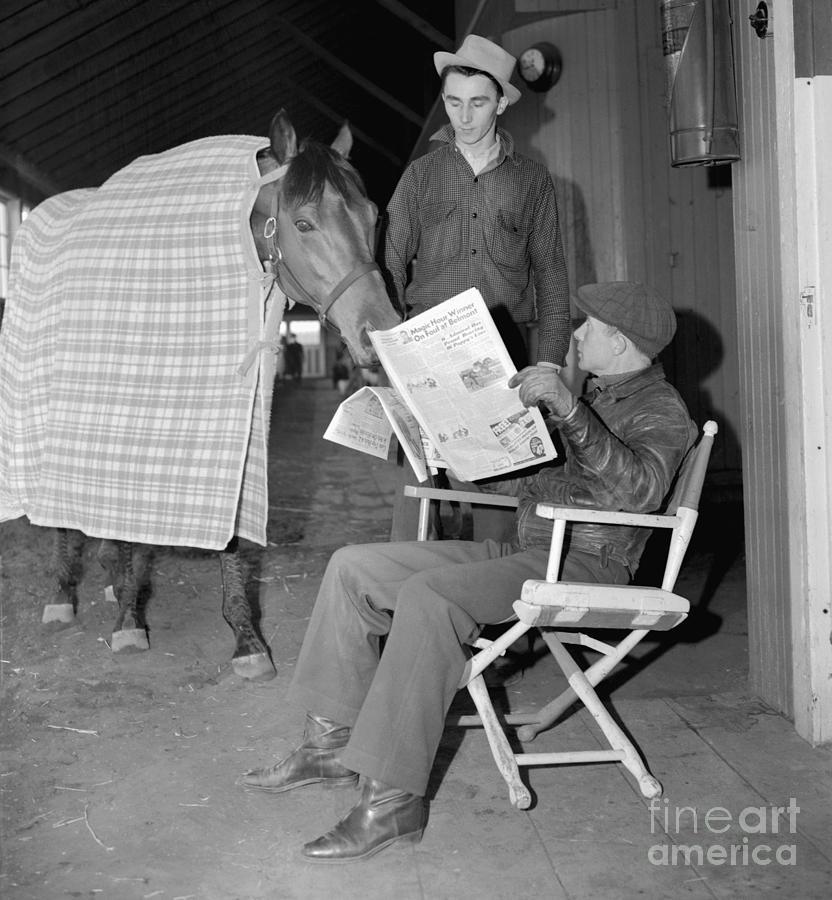 Jockey Red Pollard And Seabiscuit Photograph by Bettmann