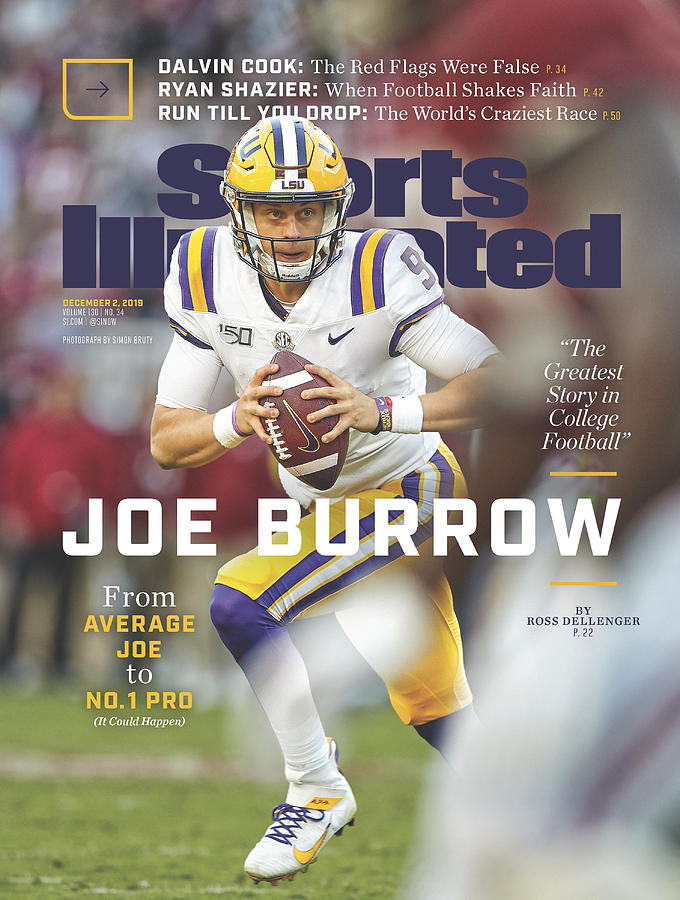 Joe Burrow From Average Joe To No. 1 Pro Sports Illustrated Cover Photograph by Sports Illustrated