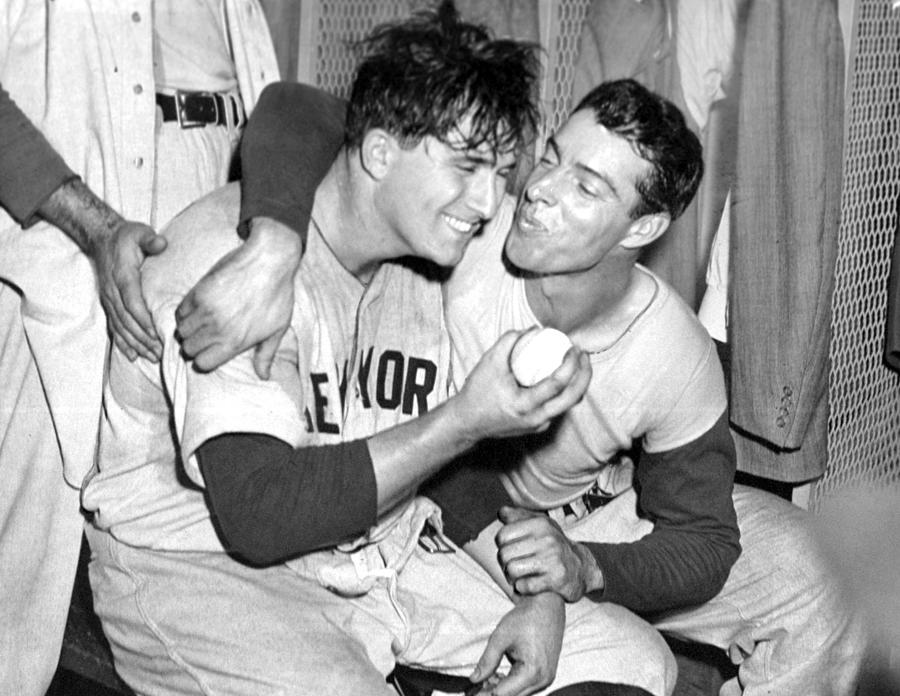 Joe Dimaggio Rewards Winning Pitcher Photograph by New York Daily News Archive