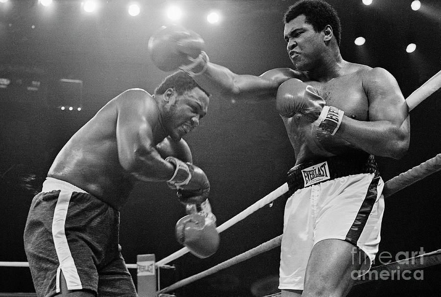 Joe Frazier And Muhammad Ali Boxing Photograph by Bettmann