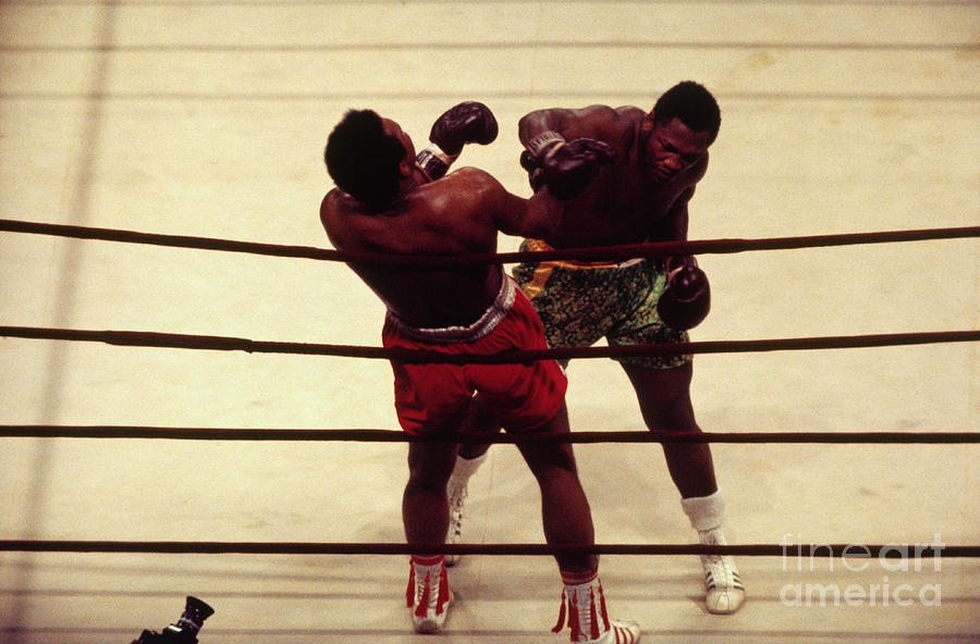 Joe Frazier Boxing Muhammed Ali Photograph by Bettmann