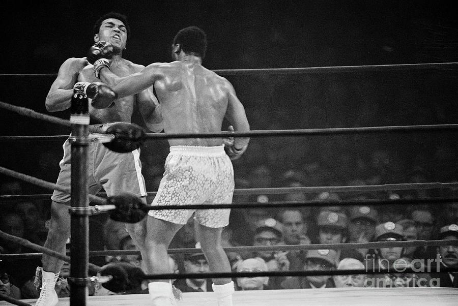 Joe Frazier Punching Muhammad Ali In Jaw Photograph by Bettmann