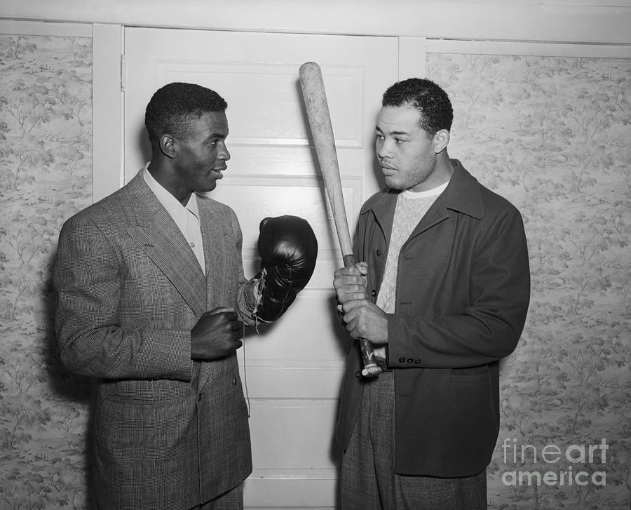 Joe Louis And Jackie Robinson Photograph by Bettmann