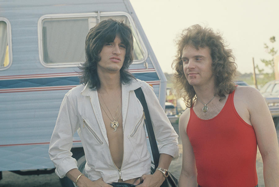 Joe Perry And Joey Kramer Of Aerosmith Photograph by Fin Costello