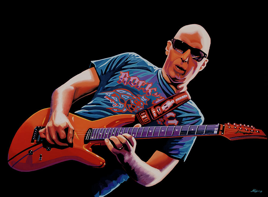 Joe Satriani Painting 2 by Paul Meijering