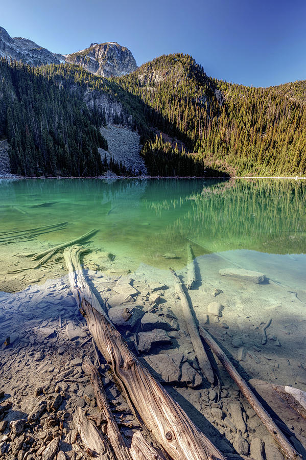 Joffre Lake middle on a calm sunny morning by Pierre Leclerc Photography