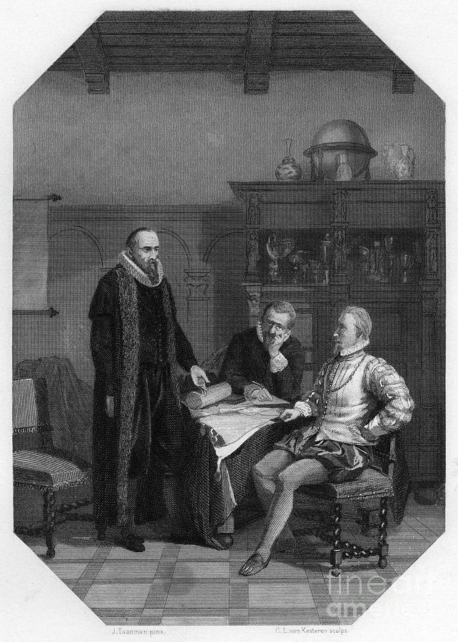 Johan Van Oldenbarnevelt Meeting Earl Drawing by Print Collector