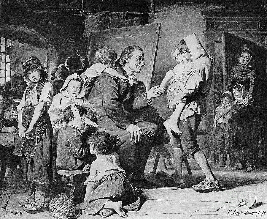 Johann Pestalozzi Teaching Children Photograph by Bettmann
