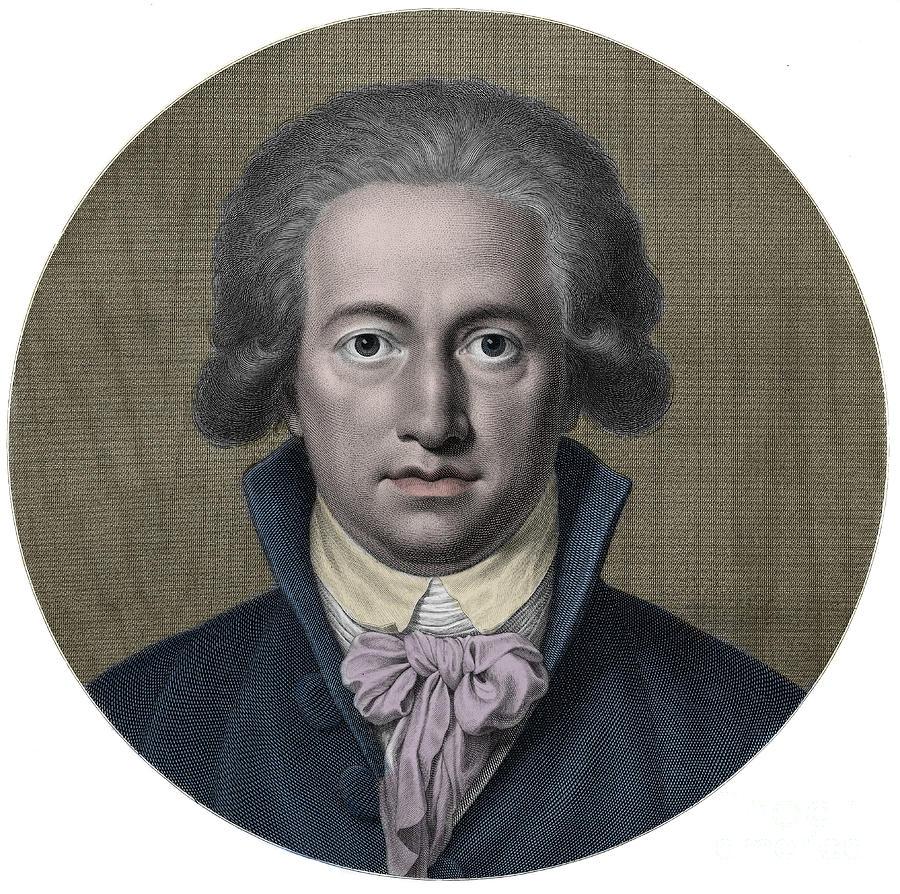 Johann Wolfgang Von Goethe German Writer Engraving By German School