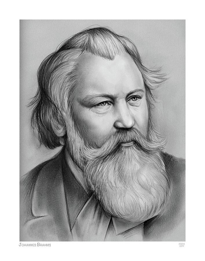 Johannes Brahms Drawing