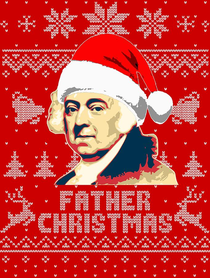 Santa Digital Art - John Adams Father Christmas by Filip Hellman