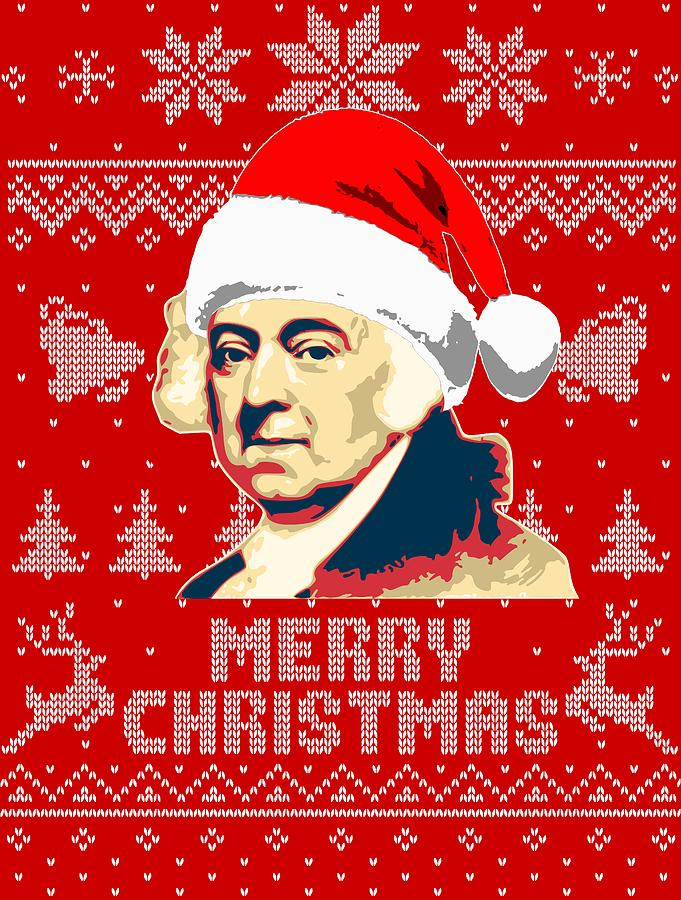 Christmas Digital Art - John Adams Merry Christmas by Filip Hellman