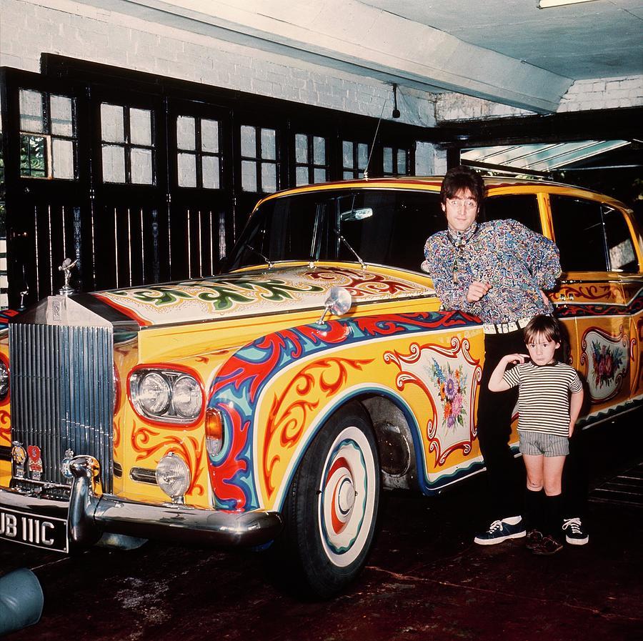 John And Julian Lennon In Liverpool Photograph by Keystone-france