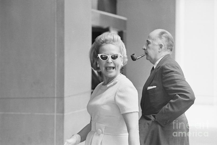 John And Martha Mitchell Photograph by Bettmann