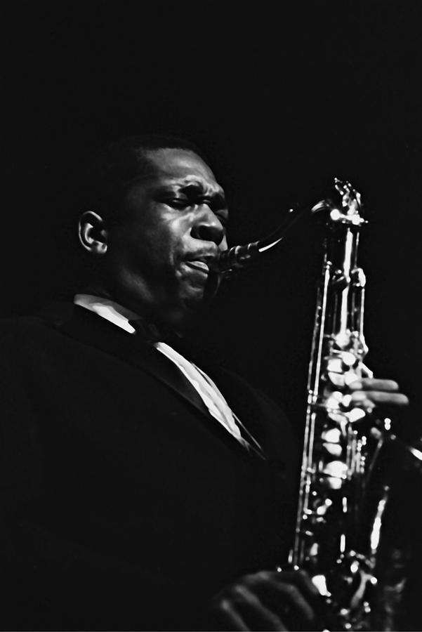 John Coltrane In Paris, France In 1960 - Photograph by Herve Gloaguen