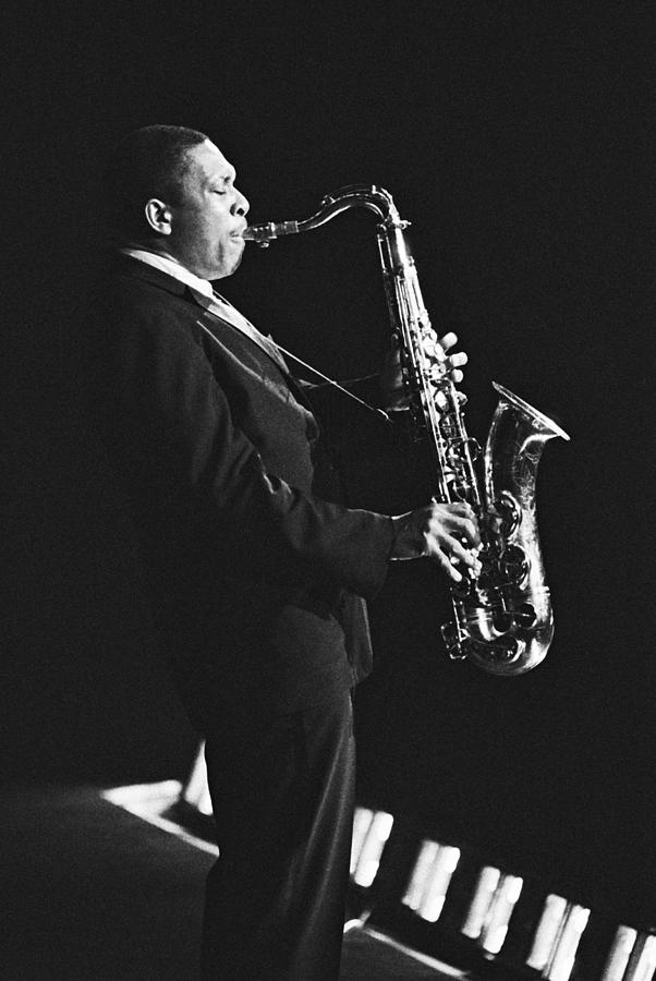 John Coltrane In Paris, France In 1963 - Photograph by Herve Gloaguen