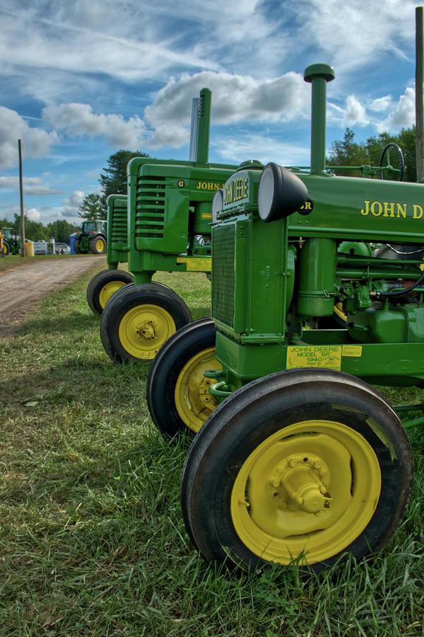 John Deer's in a line by Mark Dodd