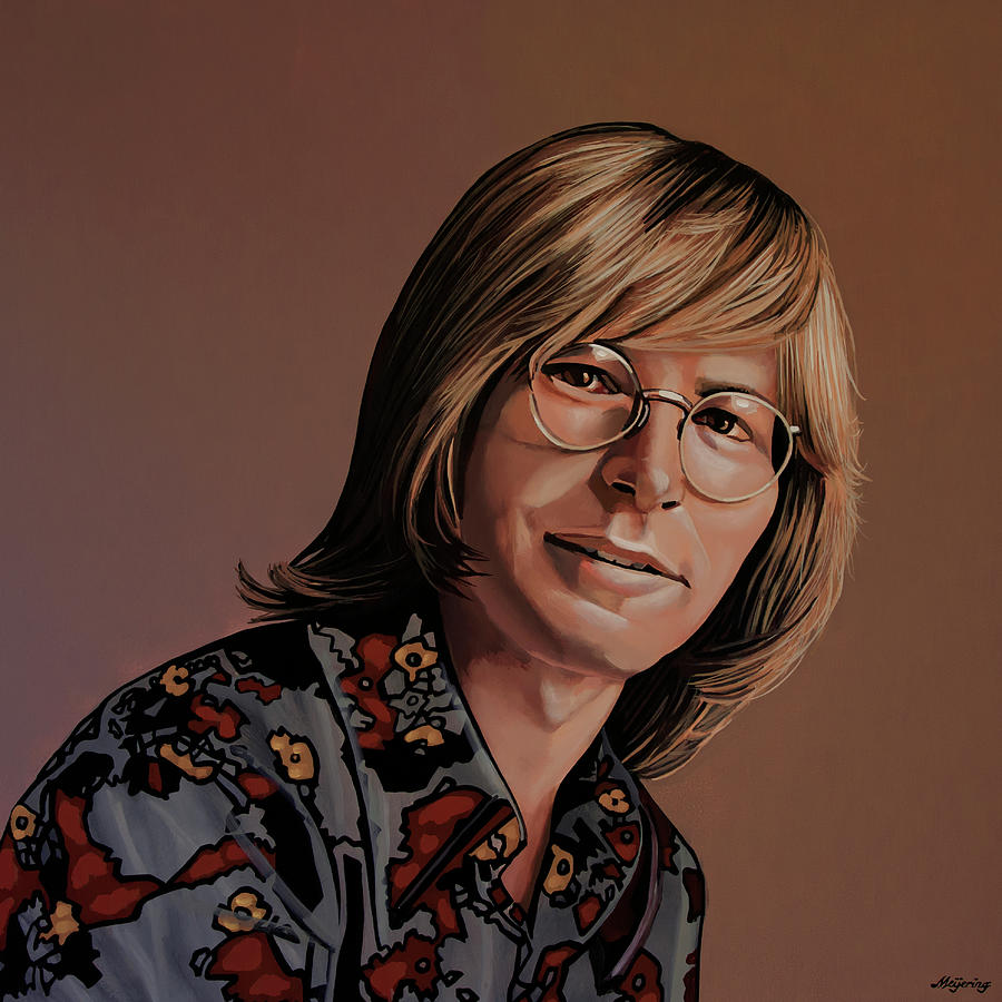 John Denver Painting by Paul Meijering