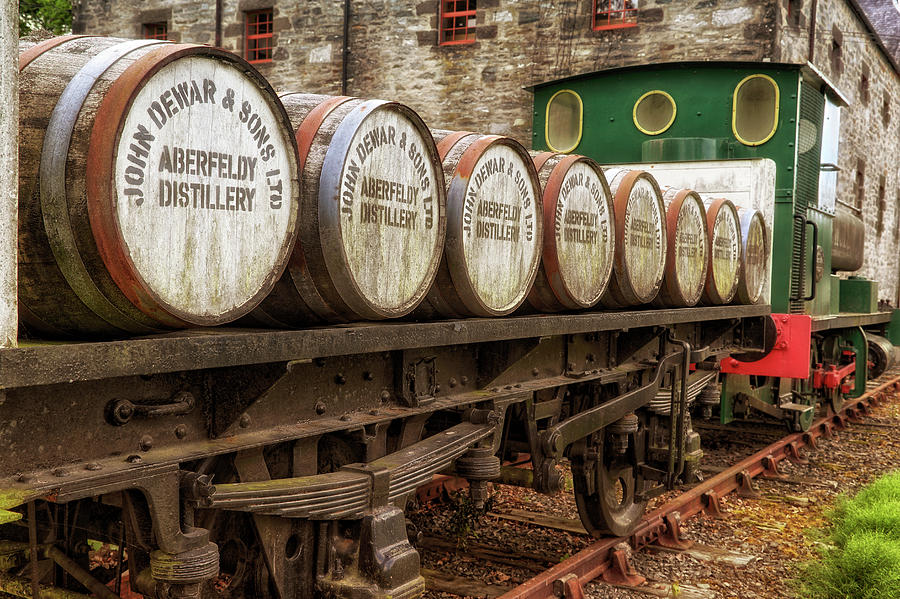 John Dewar and Sons Aberfeldy Distillery Train - Scotland - Whisky by Jason Politte