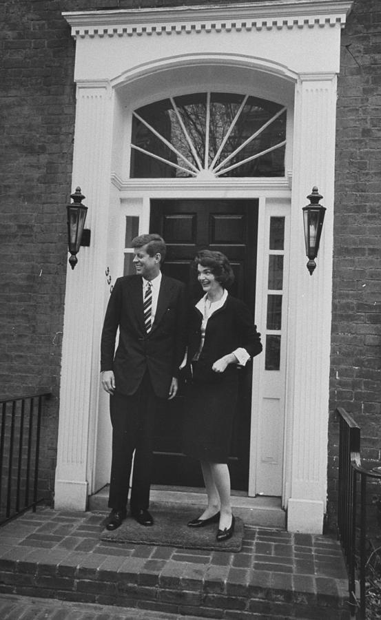 John F. Kennedy  And Jacqueline Kennedy Photograph by Ed Clark
