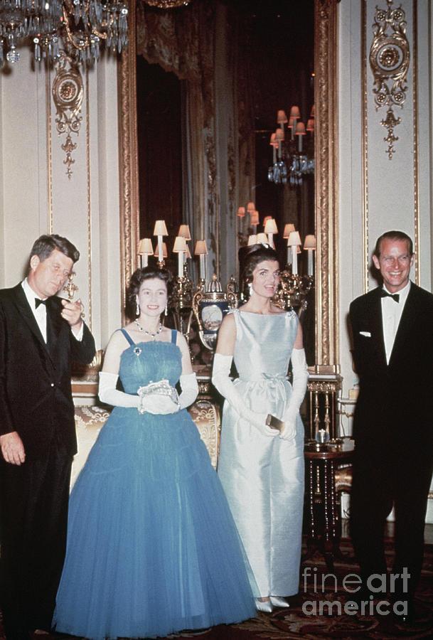 John F. Kennedy And Queen Elizabeth II Photograph by Bettmann