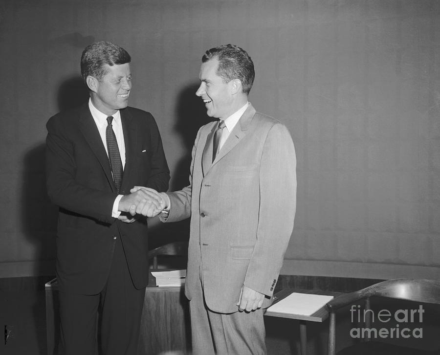John F. Kennedy And Richard Nixon Photograph by Bettmann