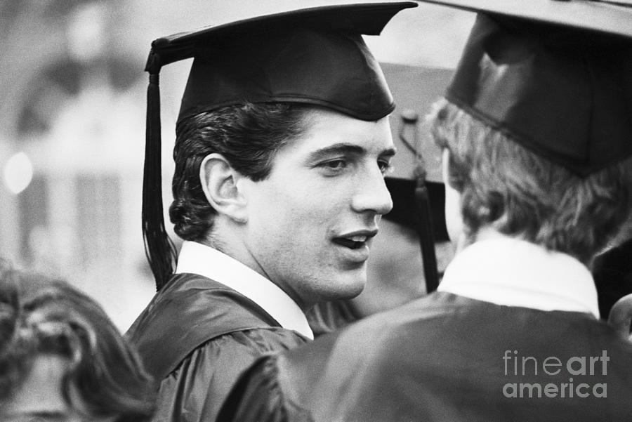 John F. Kennedy Jr. At Graduation Photograph by Bettmann