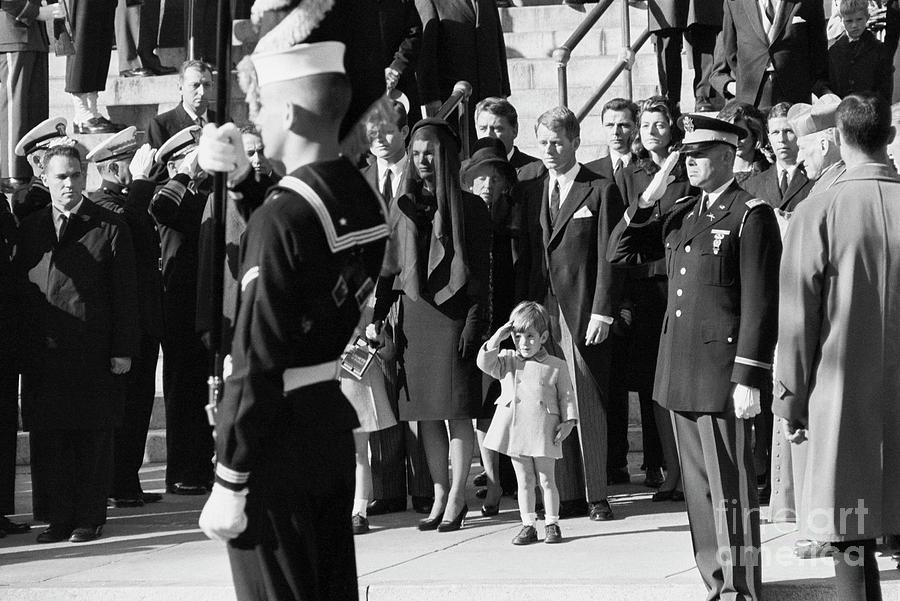 John F. Kennedy Jr. Saluting His Father Photograph by Bettmann