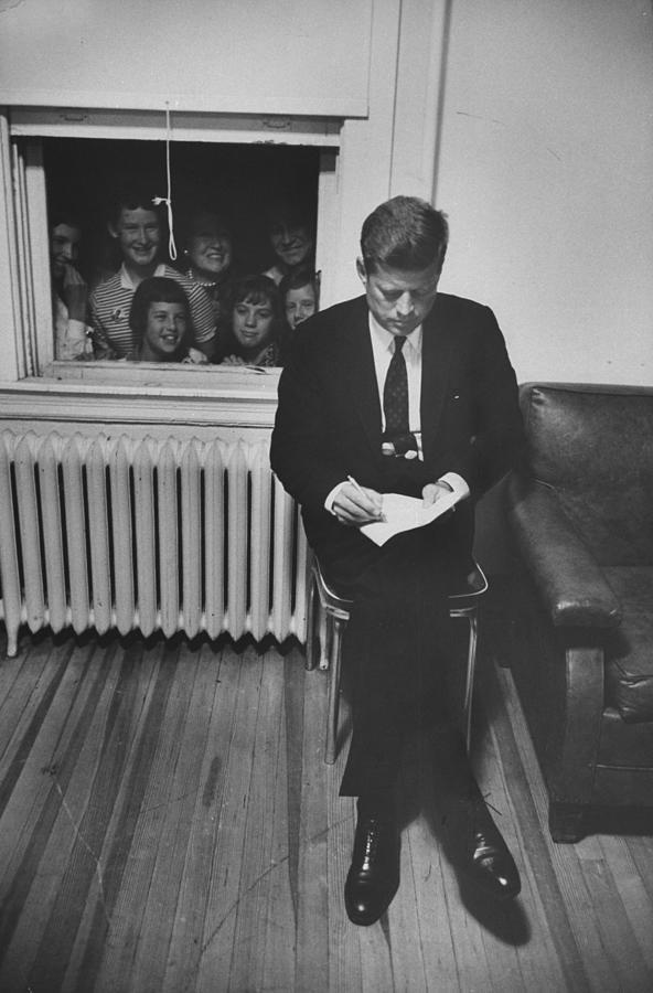 John F. Kennedy Photograph by Paul Schutzer
