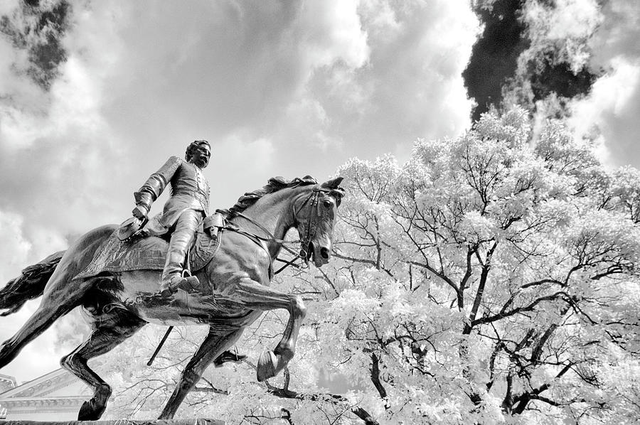 Metal Of Honor Photograph - John Frederick Hartranft Statue On His Horse by Paul W Faust - Impressions of Light