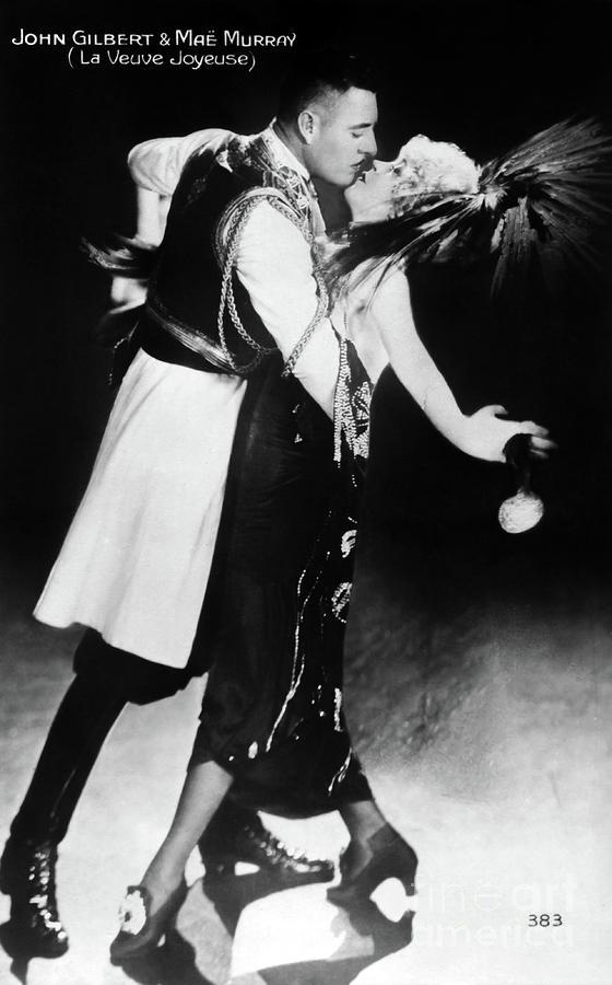 John Gilbert Photograph - John Gilbert Mae Murray The Merry Widow by Sad Hill - Bizarre Los Angeles Archive