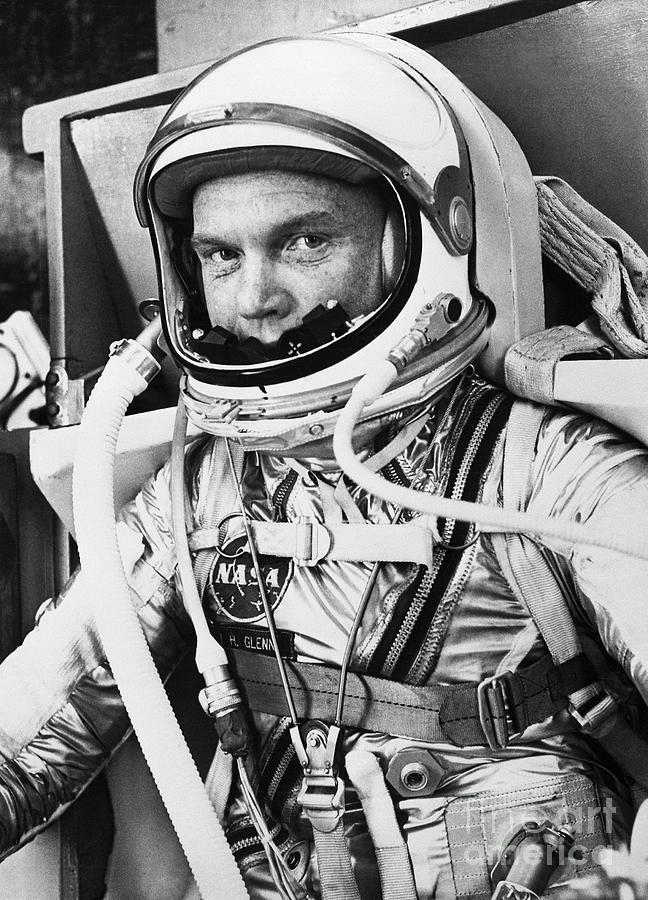 John Glenn In A Spacesuit Before Takeoff Photograph by Bettmann