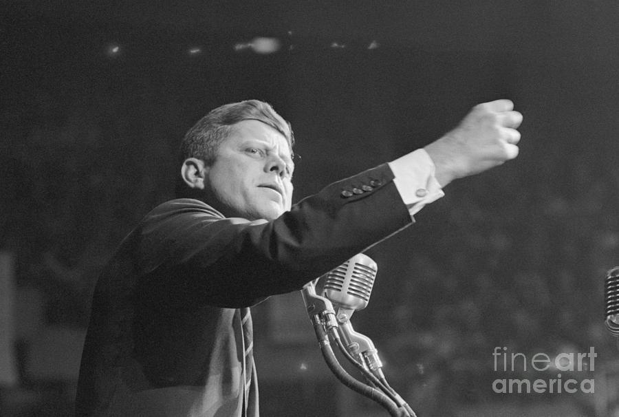 John Kennedy Clenching His Fist Photograph by Bettmann