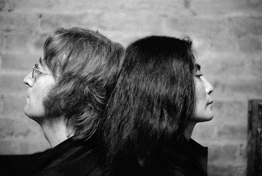 John Lennon And Yoko Ono At Their Bank Photograph by New York Daily News Archive