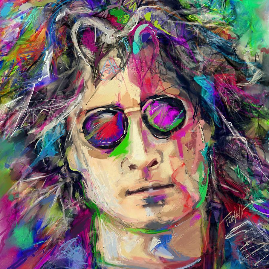 John Lennon Dreamer... Mixed Media