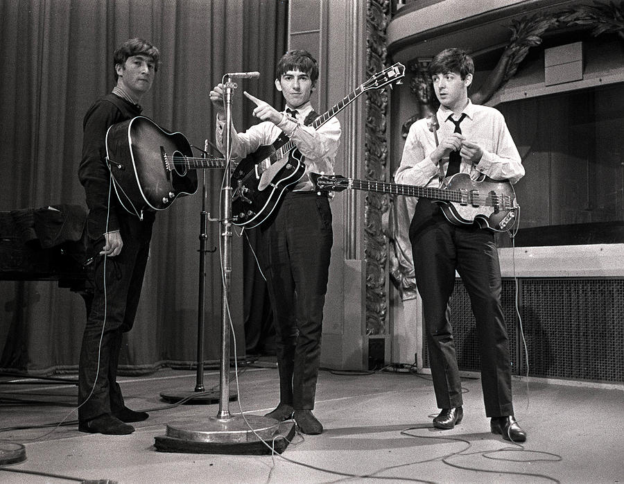John Lennon, George Harrison And Paul Photograph by Popperfoto