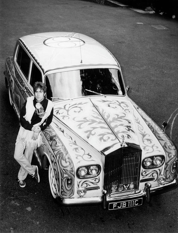 John Lennon In Front Of His Rolls Photograph by Keystone-france