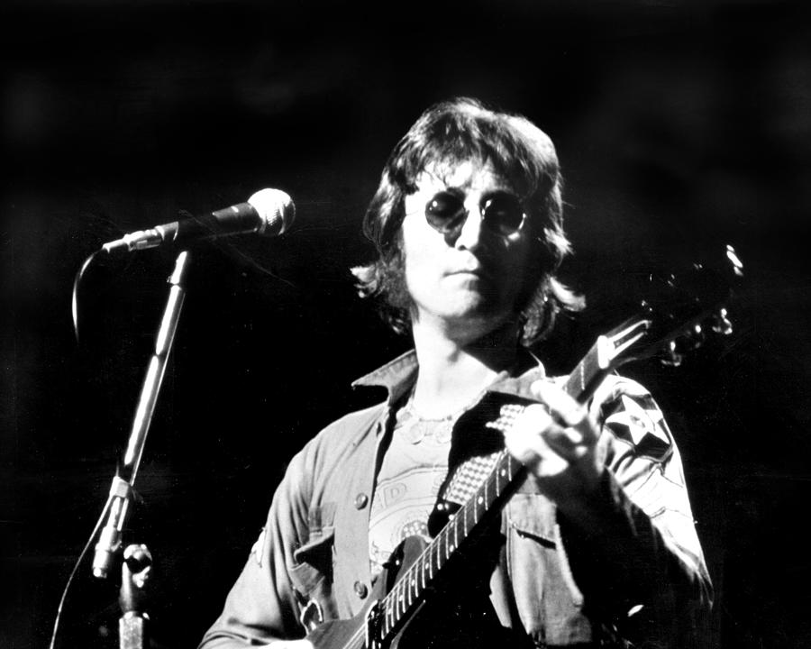 John Lennon. Performing At Th One To Photograph by New York Daily News Archive