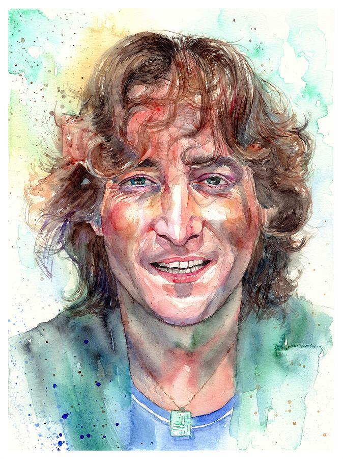 John Lennon Painting - John Lennon Smiling by Suzann Sines