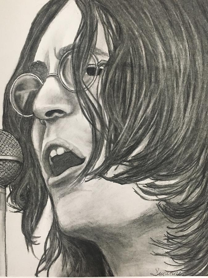 John Lennon Drawing By Suzanne Zaranti