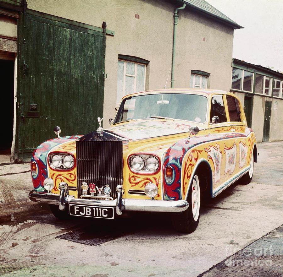 John Lennons Painted Rolls Royce Photograph by Bettmann