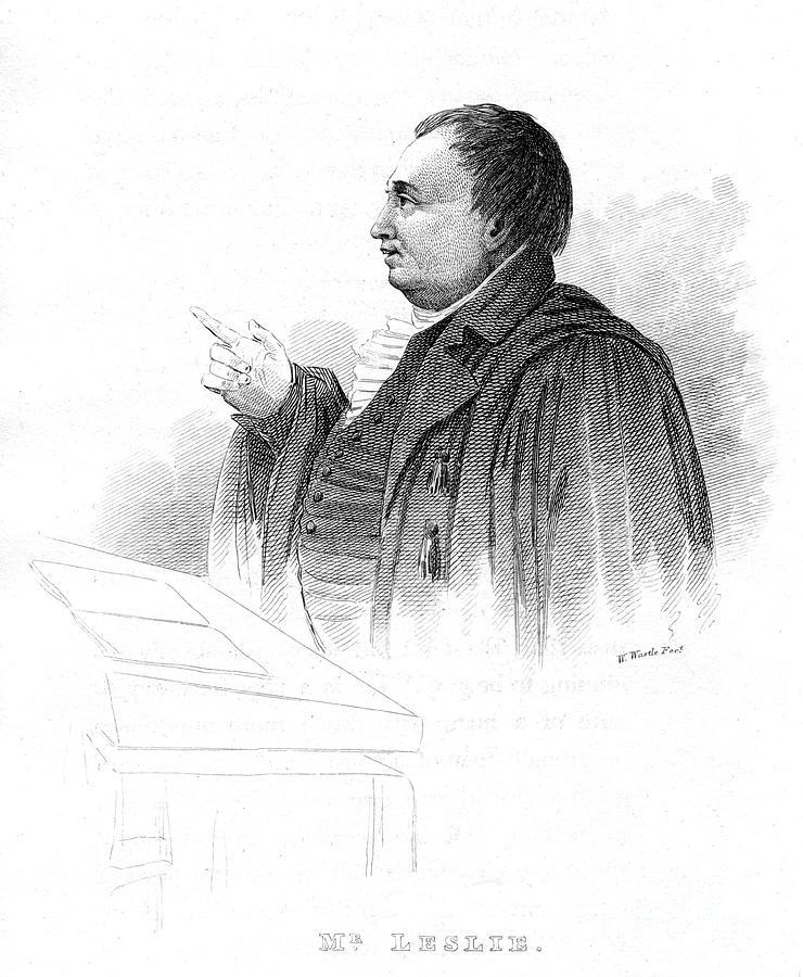 John Leslie 1766-1832, Scottish Natural Drawing by Print Collector