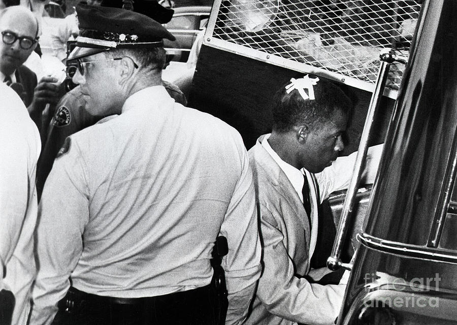 John Lewis Being Arrested In Jaskson Photograph by Bettmann