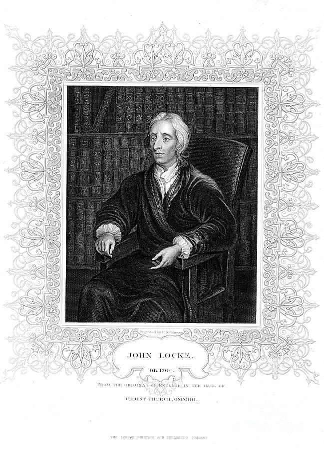 John Locke, English Philosopher Drawing by Print Collector
