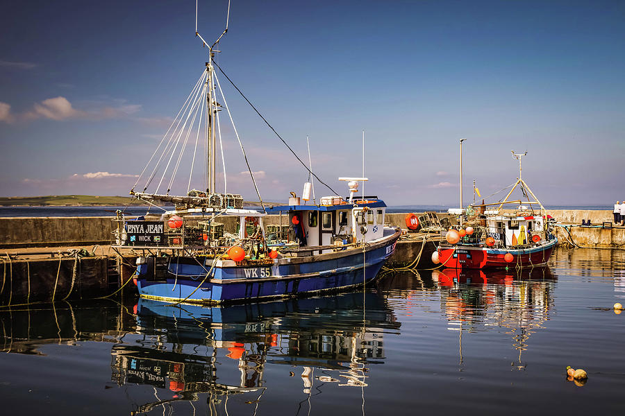 Harbour Photograph - John O Groats Harbour by Alister Harper