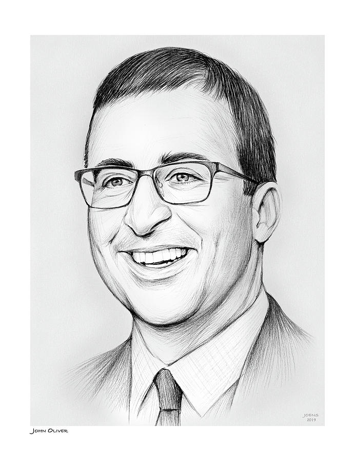 John Oliver Drawing