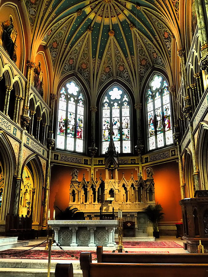 Saint John the Baptist Cathedral by Jacqueline M Lewis