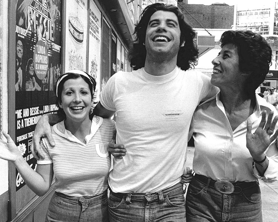 John Travolta And His Sisters Ellen And Photograph by New York Daily News Archive