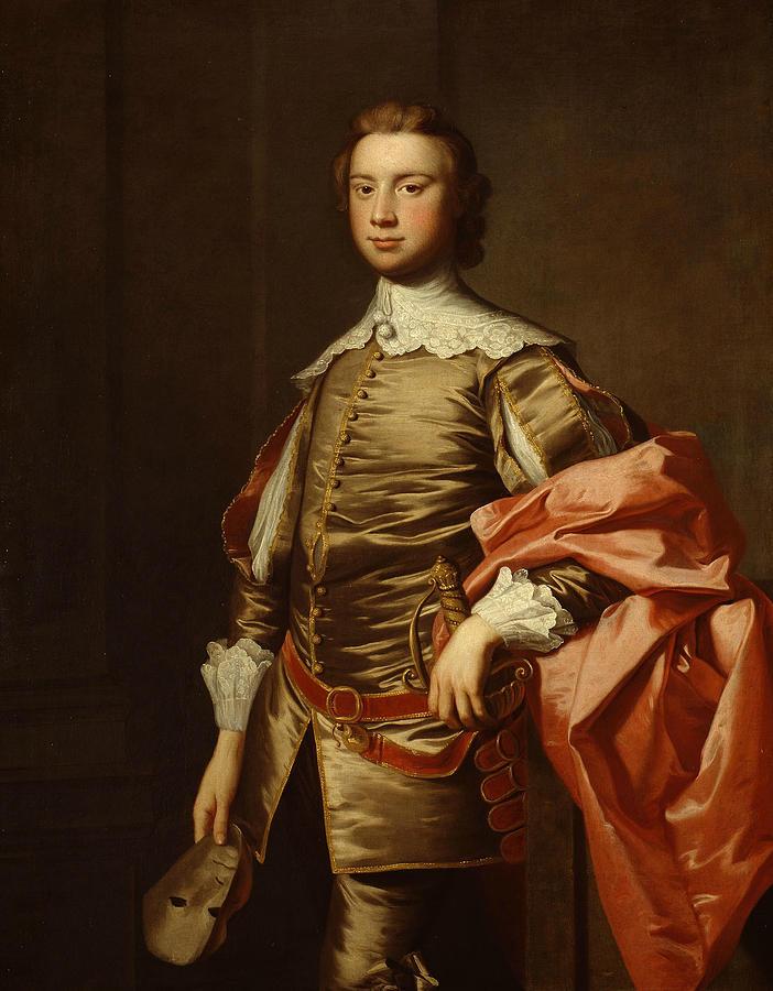 English Painters Painting - John Van Der Wall by Thomas Hudson