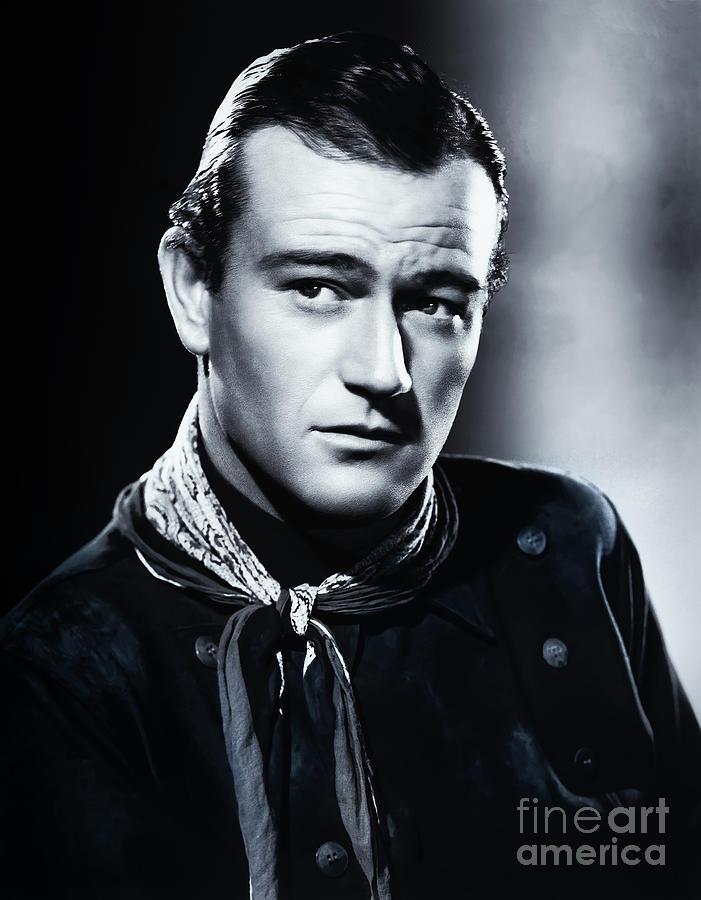 John Wayne Mixed Media - John Wayne Stagecoach by Kultur Arts Studios